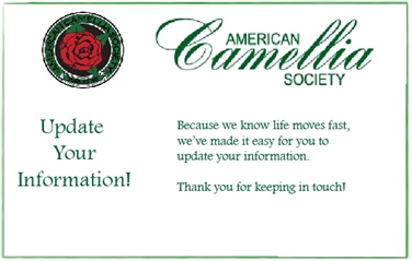 Club and Society Membership and Information Updates