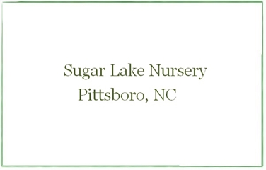 Sugar Lake Nursery