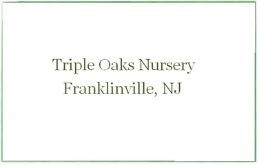 Triple Oaks Nursery & Herb Garden