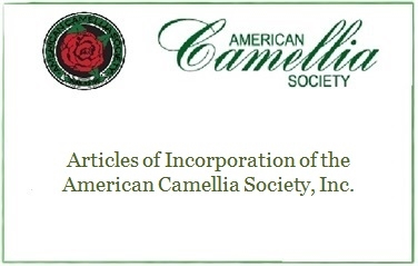 Articles of Incorporation of the American Camellia Society, Inc.