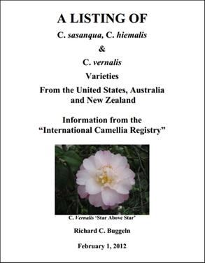 A Listing of C. sasanqua, C. hiemalis &  C. vernalis