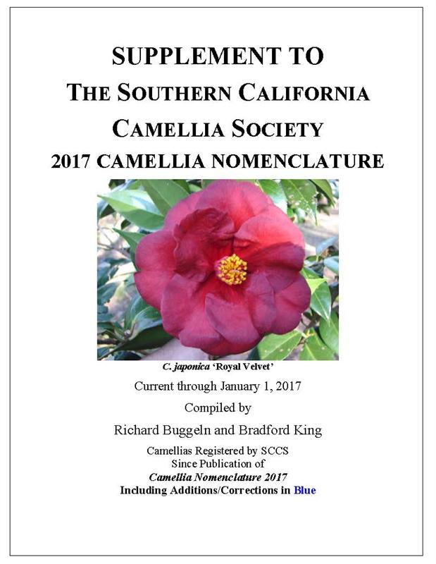 Camellia Nomenclature And Nomenclature Supplements