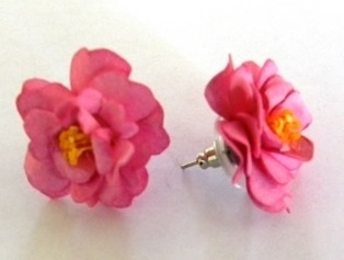 Pink Japonica Earrings