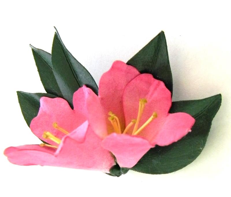 Pink Azalea Brooch