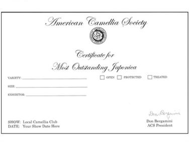 Japonica Certificate