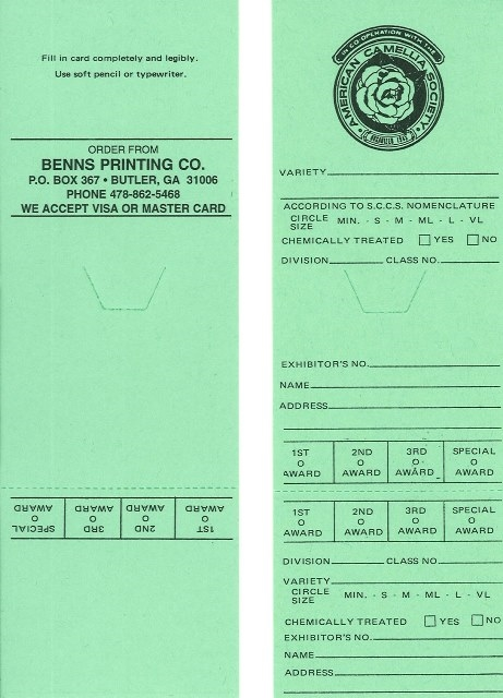 Official ACS Green (Protected) Entry Cards (Pack of 100)