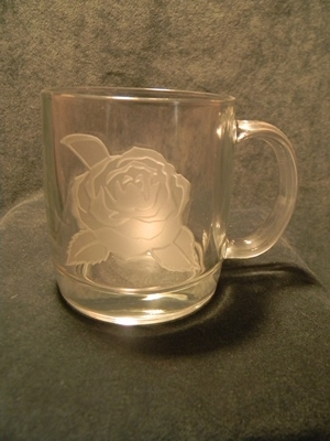 Camellia Etched Coffee Mug