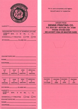 Official ACS Pink (Seedling) Entry Cards (Pack of 100)
