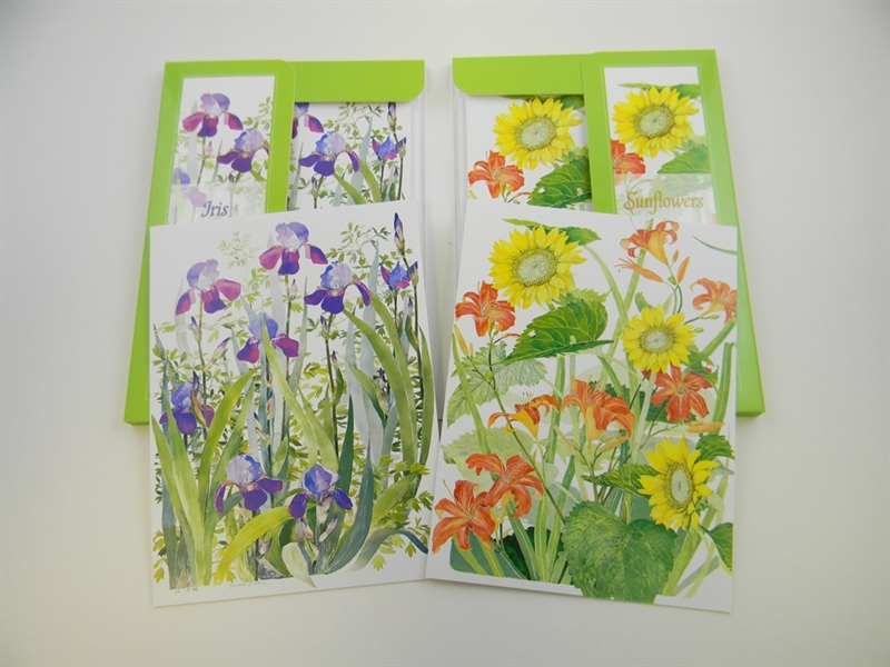 Iris & Sunflowers Notecards