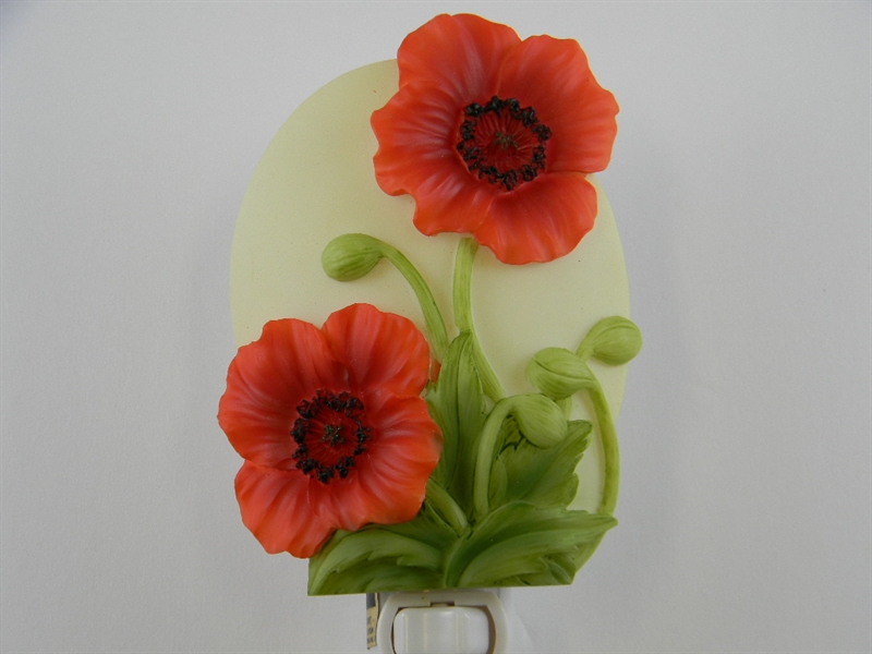 Red Poppies Nightlight