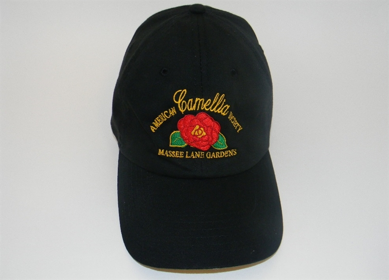 black acs baseball cap american camellia society