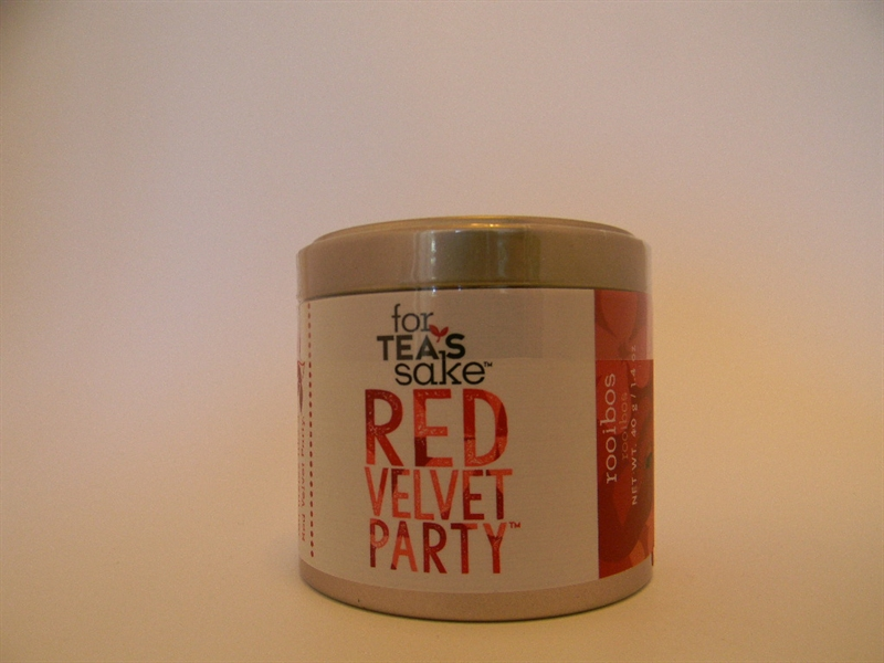 Red Velvet Party Rooibos Tea Blend, Small Tin