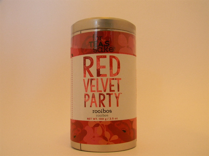 Red Velvet Party Rooibos Tea Blend, Large Tin