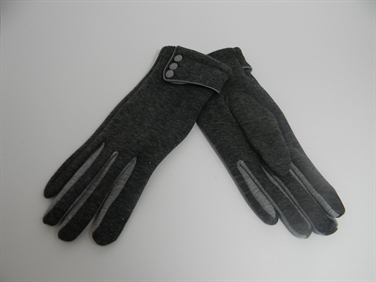 Charcoal and Grey Gloves with Buttons