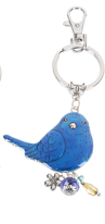 Bluebird of Happiness Keychain
