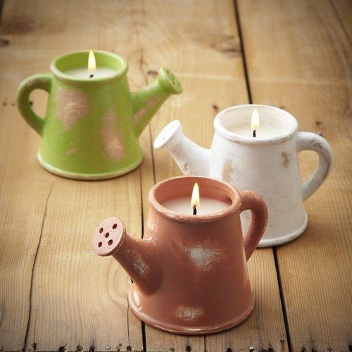 Garden De-Lights Brown Watering Can Candle