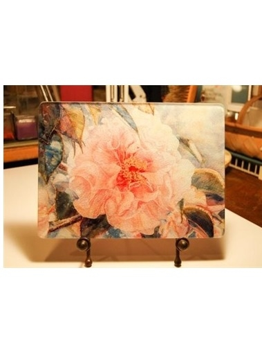 Pink Parade Camellia Cutting Board