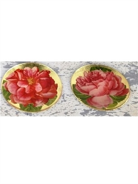 Red Camellia Decoupage Tray