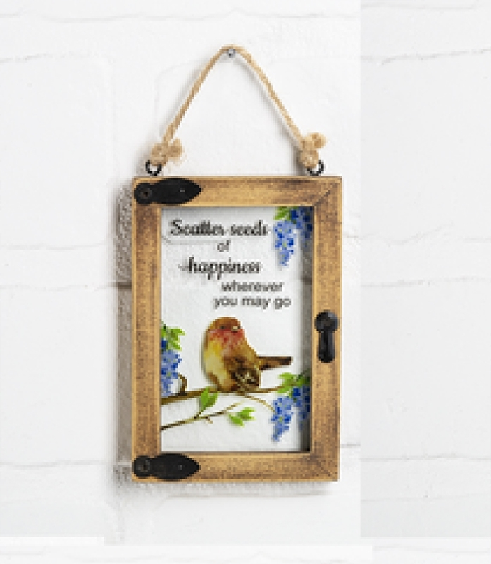 "Mini window ornament ""Scatter Seeds of Happiness Wherever You May Go"""