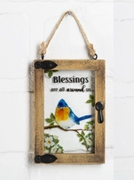"""Mini window ornament """"Blessings Are All Around Us"""""""
