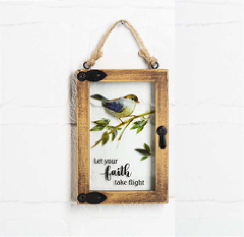 "Mini window ornament ""Let Your Faith Take Flight"""