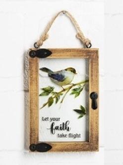 "Mini window ornament ""Let Your Faith Take Flight"""