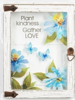 "Wall plaque ""Plant Kindness Gather Love"""