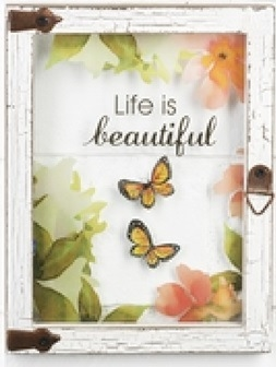 "Wall plaque ""Life is Beautiful"""