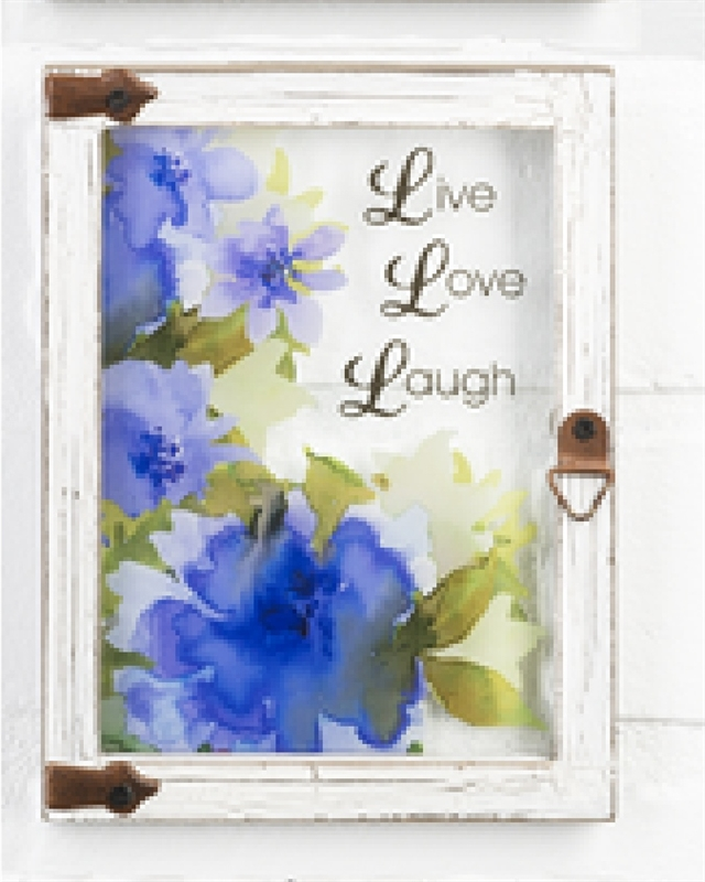 "Wall plaque ""Live Love Laugh"""