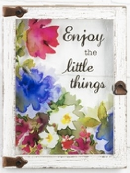 "Wall plaque ""Enjoy the Little Things"""