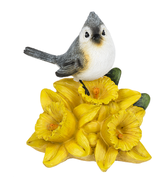 Tuffed Titmouse on Daffodil