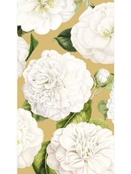 Gold Camellia Guest Towels