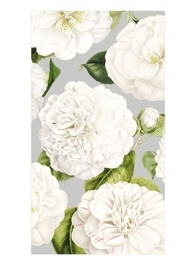 Silver Camellia Guest Towels