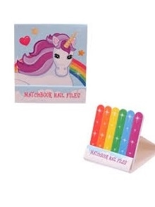 Purple Unicorn Matchbook Nail File