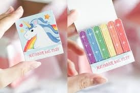 Blue Unicorn Matchbook Nail File