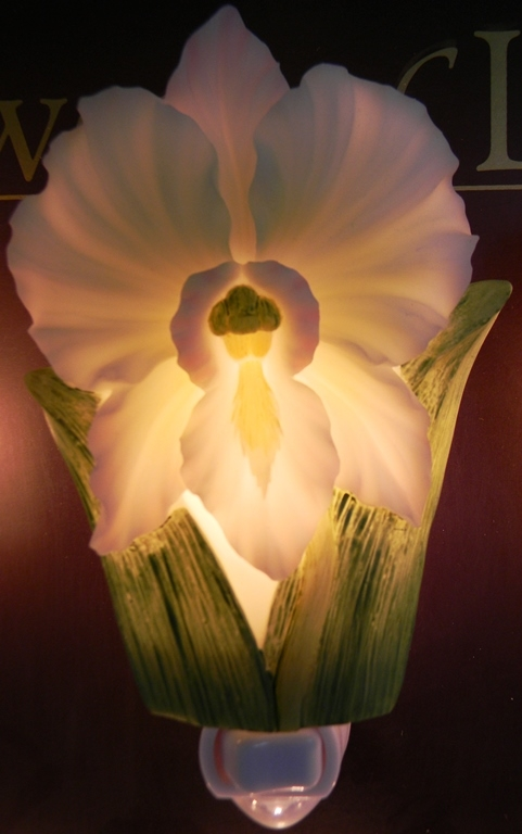 White Orchid Night Light