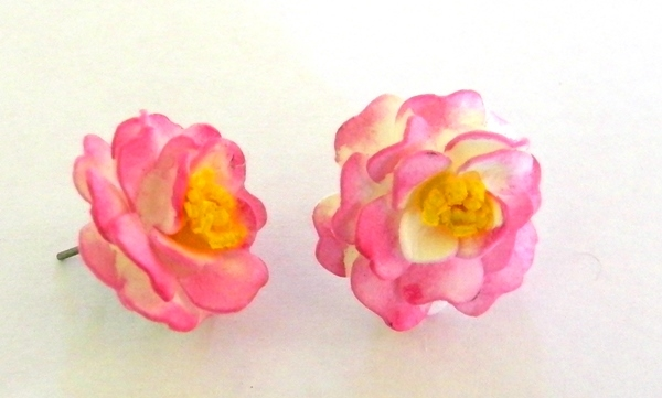 Pink Variegated Earrings